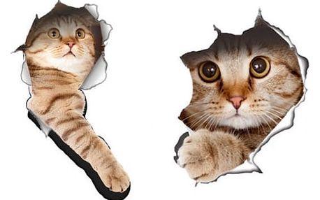 Kočičí samolepka na WC - 2 kusy