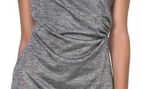 Desigual šedé třpytivé šaty Mihaela - XL