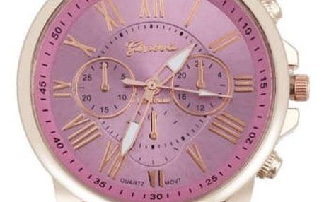 Unisex hodinky s velkým ciferníkem - mix barev