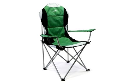 Skládací kempingová rybářská židle Divero Deluxe - zeleno/černá