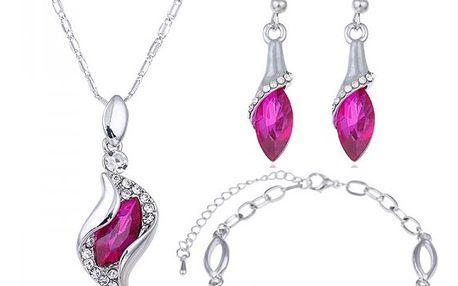 Luxusní sada šperků v nepravidelných tvarech