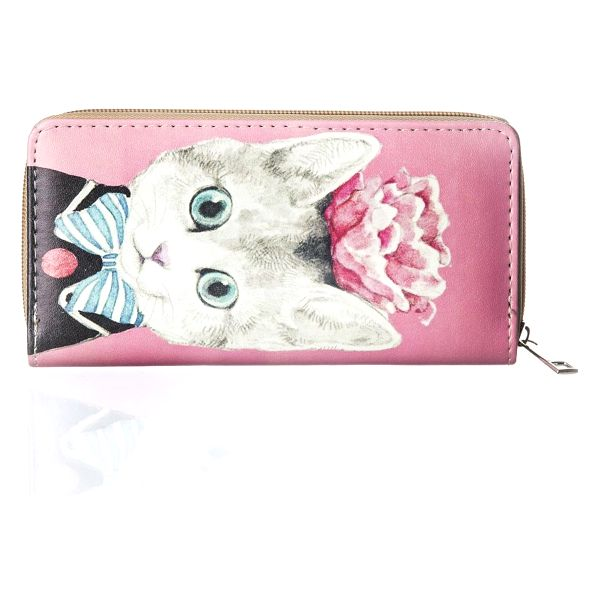 Dámská peněženka s potiskem kočky umělá kůže Casual PN0087-06