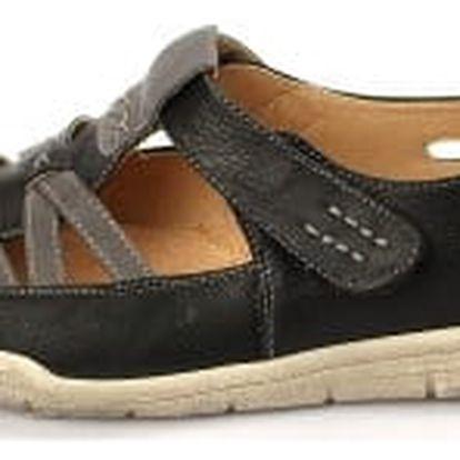 Kvalitná dámské zdravotní boty s koženou stélkou černé