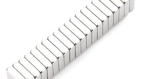 Neodymové magnety 10 x 10 x 3 mm - 20 ks