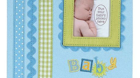 FOTOALBUM modré Baby Memories pro 180 fotografií 10x15 cm (dárkové balení)