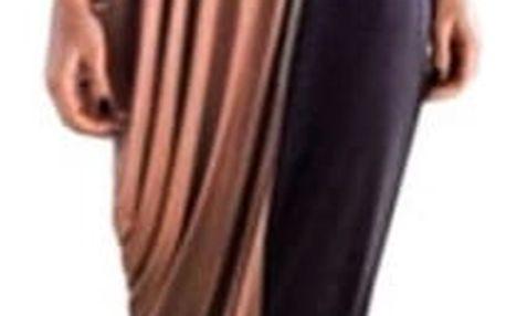 Dlouhé módně střižené plus size šaty