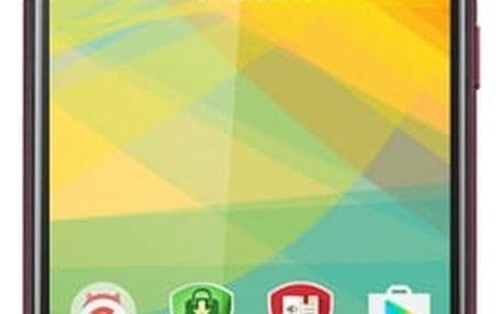 Mobilní telefon Prestigio Muze B3 Dual SIM (PSP3512DUOWINE) vínový