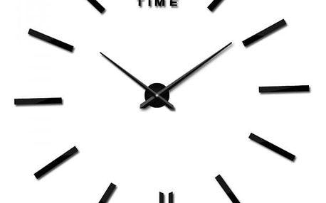 Zrcadlové 3D hodiny na stěnu - dodání do 2 dnů
