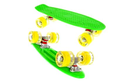 Penny board Fish LED F2 GREEN