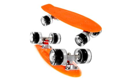Penny board Fish LED F2 ORANGE