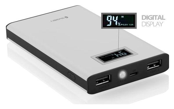 Powerbank GoGEN 8000mAh, display (GOGPBD80005WB) černá/bílá2