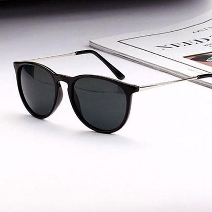 Dámské retro sluneční brýle - černá barva - dodání do 2 dnů
