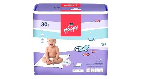 Přebalovací podložka Bella Baby Happy 60x60cm, 30 ks