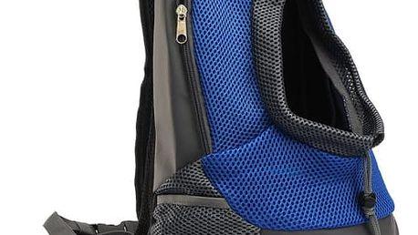Přepravní batůžek pro malé pejsky - Modrá, velikost M