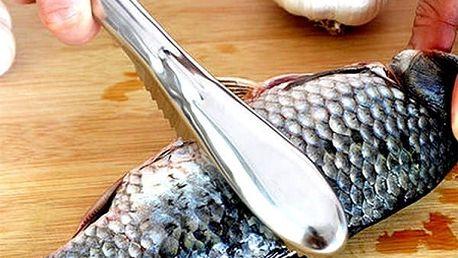 Pomůcka k rychlému odstranění rybích šupin