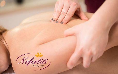 60minutová manuální lymfatická masáž v kosmetickém salonu Nefertiti v Brně