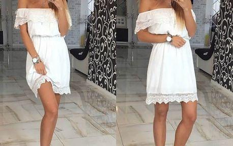 Letní šaty s odhalenými rameny - 3 barvy