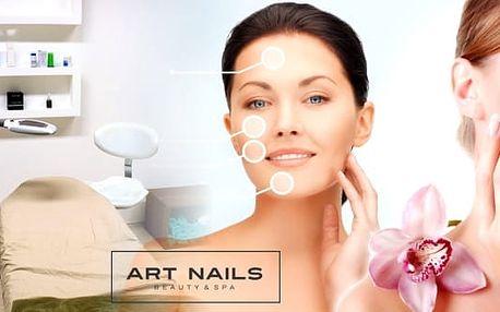 Kompletní kosmetické ošetření pleti v salonu Art Nails v Praze v galerii Harfa. Čeká vás povrchové čistění pleti, peeling, napařování, masáž obličeje, maska, závěrečná péče.Pravidelné kosmetické ošetření udrží vaši pleť čistou, svěží a také napomáhá vyhl