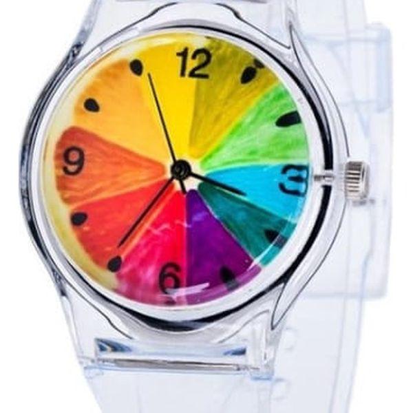 Čiré hodinky s barevnými motivy - dodání do 2 dnů
