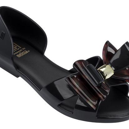 Mel by Melissa černé dívčí sandály Seduction II Black/Tortoise - 28/29