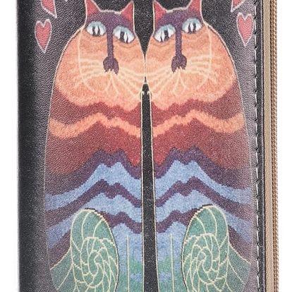 Dámská peněženka s potiskem koček umělá kůže Casual PN0089-02