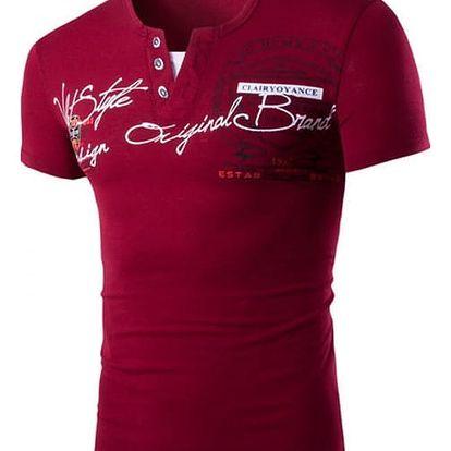 Pánské tričko s krátkým rukávem a límcem na knoflíky