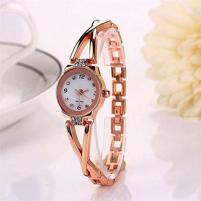 Jemné dámské hodinky s kamínky - dodání do 2 dnů