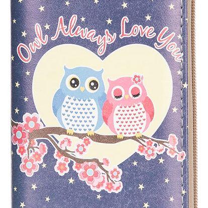 Dámská peněženka s potiskem soviček umělá kůže Casual PN0088-22