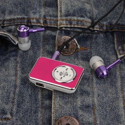 MP3 hudební přehrávač na Micro SD kartu 1-16 GB