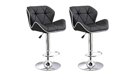 2x Barová židle Hawaj CL-3227 | černá