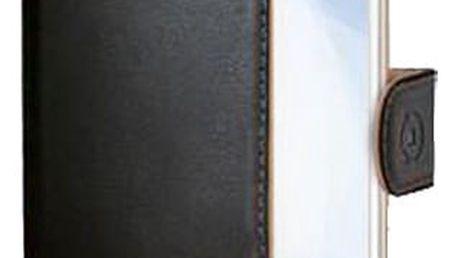 CELLY Wally pouzdro typu kniha pro Samsung Galaxy Xcover 3, PU kůže, černá - WALLY509
