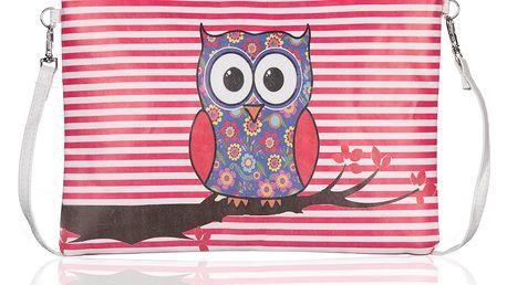 Fashion Icon Psaníčko Etno sova pouzdro na tablet umělá kůže malá Retro do ruky přes rameno psaníčko PS0069-03