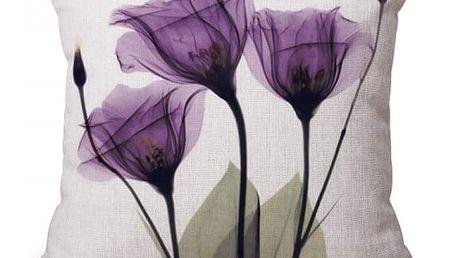 Povlak na polštář s motivy barevných květin