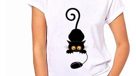 Dámské tričko s motivy kočiček - varianta 257, velikost 2