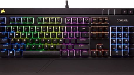 CORSAIR Gaming STRAFE, Cherry MX Brown, RGB LED, černá, EU - CH-9000094-EU