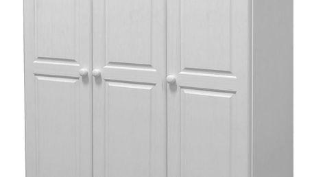 Skříň 3dveřová 8863B bílý lak