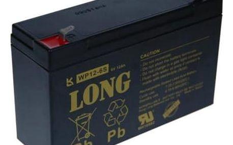 Olověný akumulátor Avacom Long 6V 12Ah (PBLO-6V012-F1A) černá