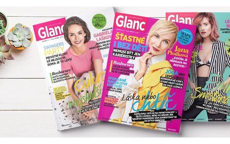 Roční předplatné časopisu Glanc