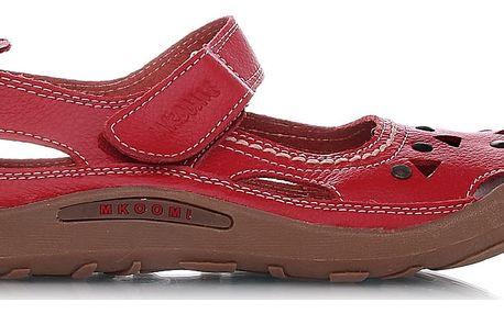 Červené baleríny 434-3R 41