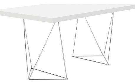 Pracovní/jídelní stůl Trestle, délka 160 cm, bílý - doprava zdarma!