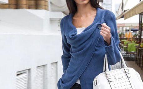 Moderní svetr pro dámy se zapínáním na knoflík - 4 barvy