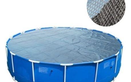 Solární plachta 244 cm kruhová modro-černá