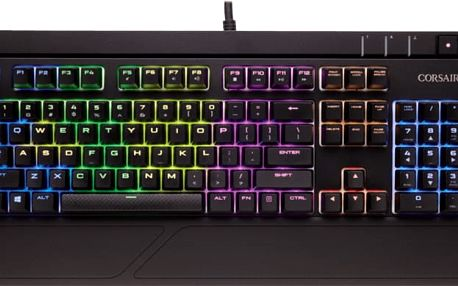 CORSAIR Gaming STRAFE, Cherry MX Brown, RGB LED, černá, EU - CH-9000094-EU