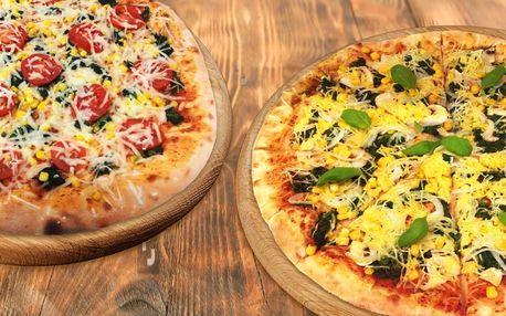 Dvě pizzy k vyzvednutí v Pizza Pardubice