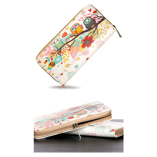 Dámská peněženka s potiskem soviček umělá kůže Casual PN0090-45