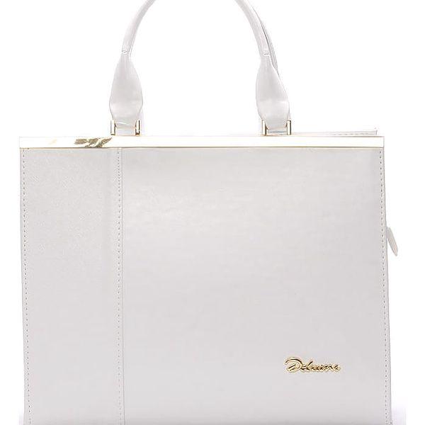 Elegantní dámská kabelka do ruky bílá - Delami Delit bílá