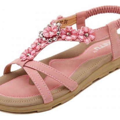 Dámské sandálky s květy