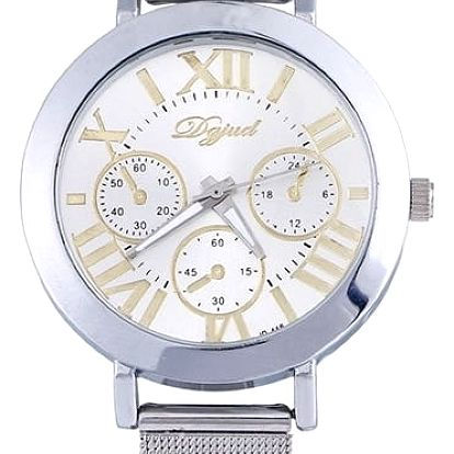Unisex kovové hodinky v bílé barvě - dodání do 2 dnů