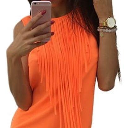 Dámské minišaty - oranžová, velikost č. 5