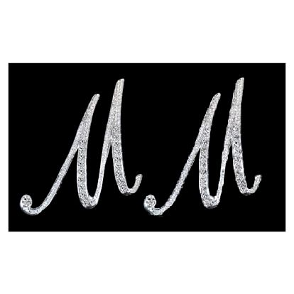 Náušnice - abeceda - tvar písmene M